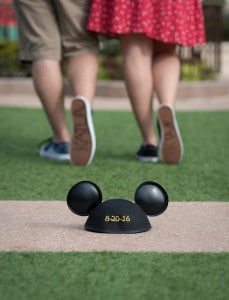 Mickey Mouse ears will wedding date