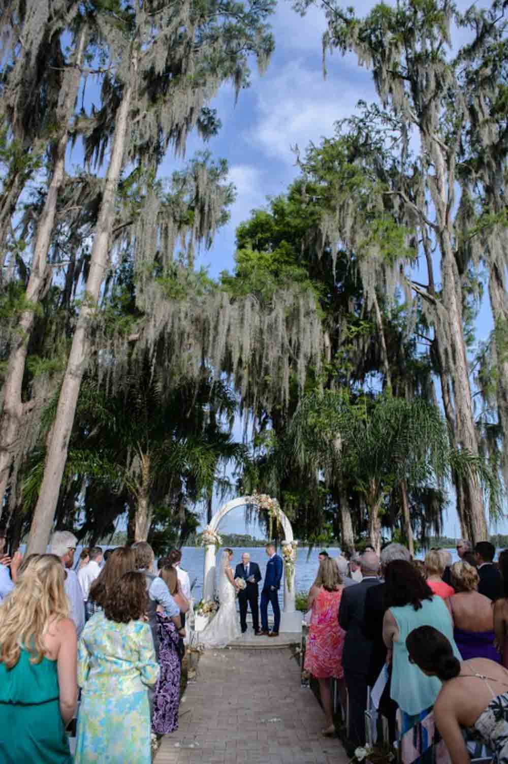 lakefront wedding ceremony space at Paradise Cove