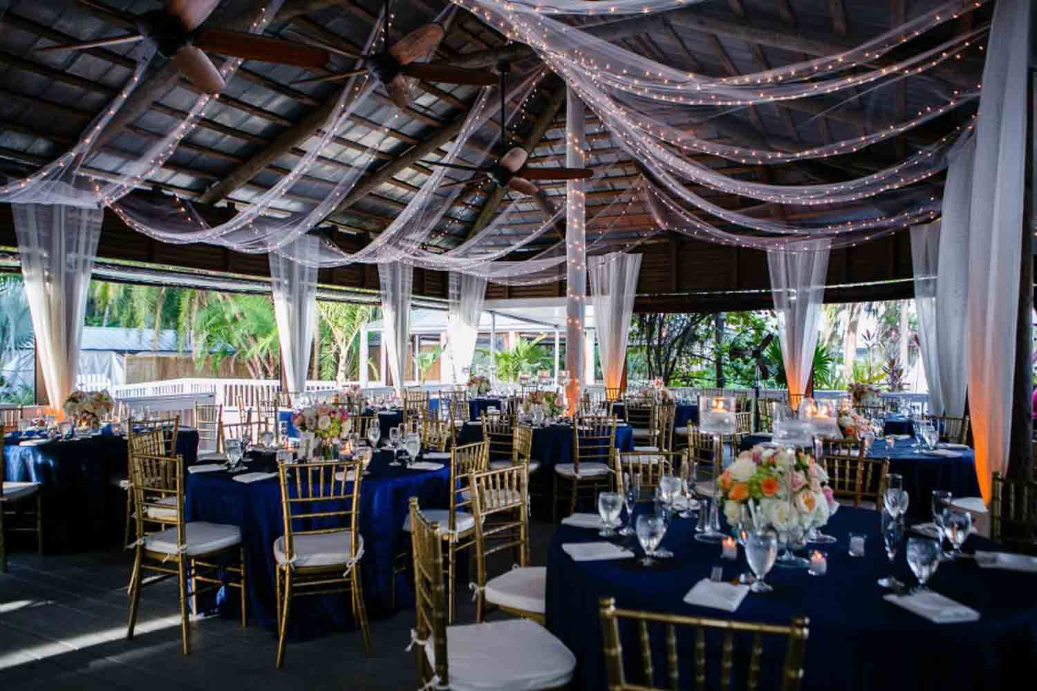 draping on Paradise Cove's outdoor reception space