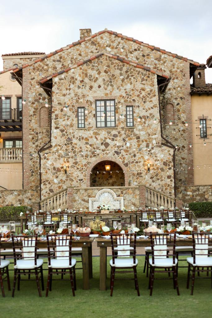 lawn of Bella Collina wedding venue