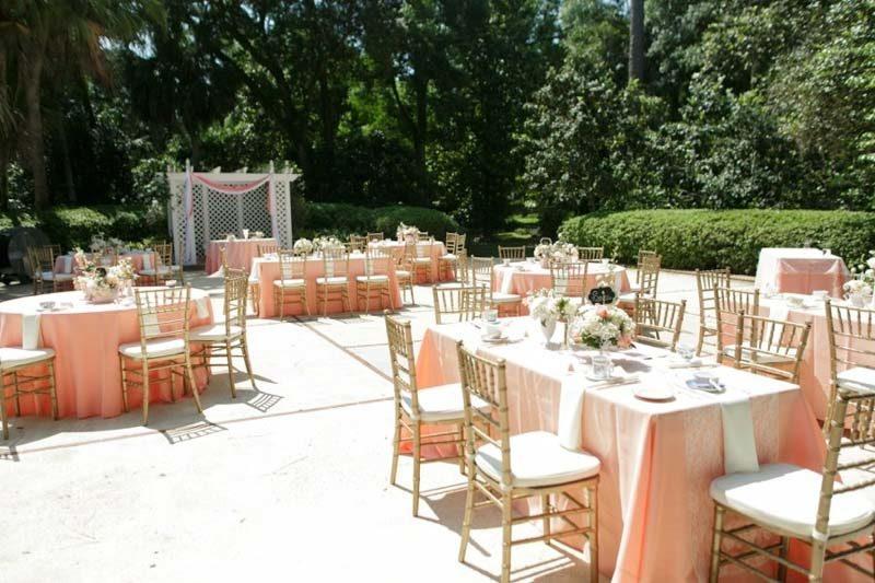 outdoor reception space at The Garden Villa