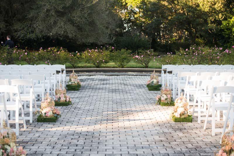 wedding ceremony space at Harry P. Leu Gardens