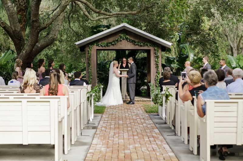 outdoor barn ceremony