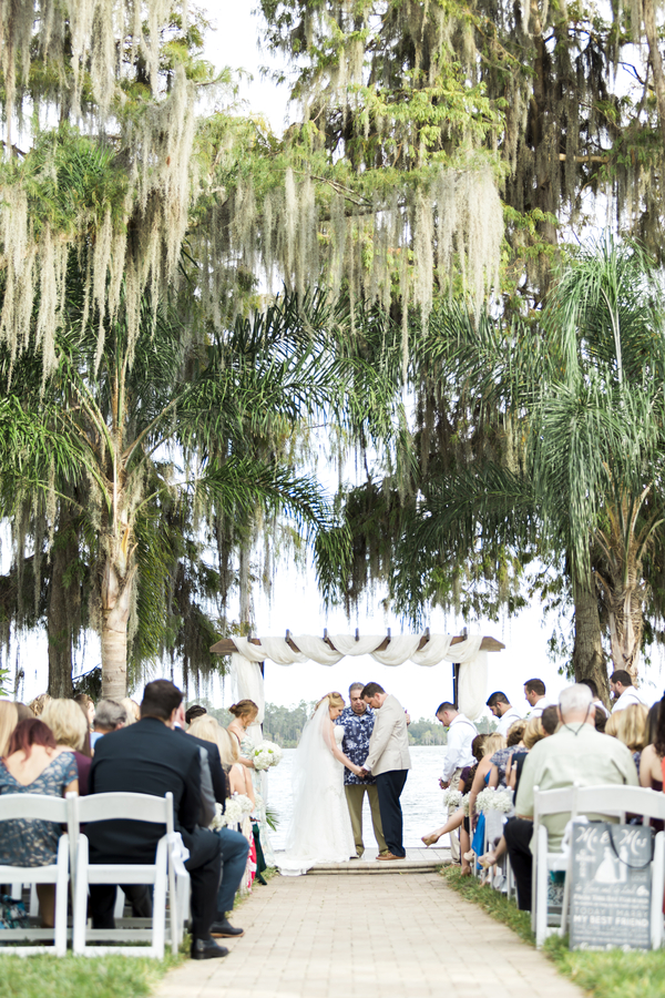 bride and groom praying at alter for Paradise Cove wedding