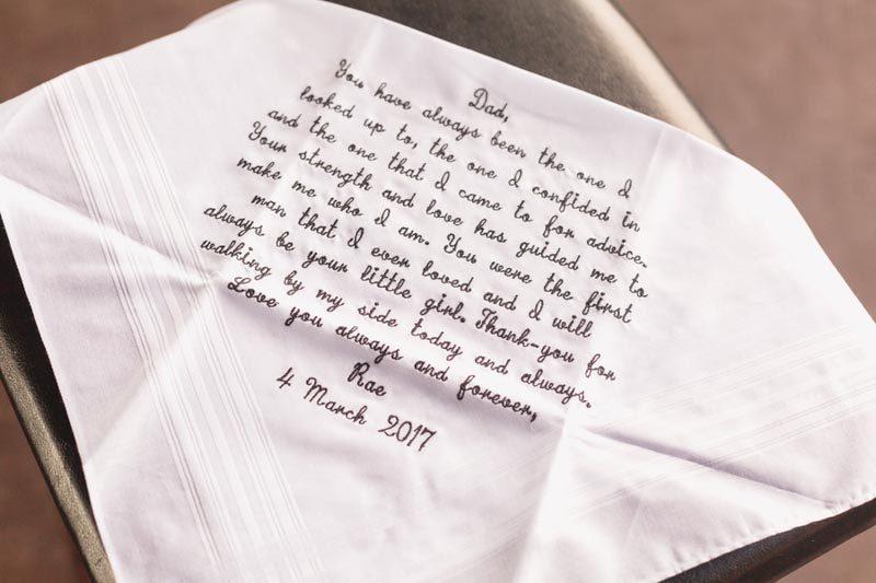 wedding handkerchief for dad