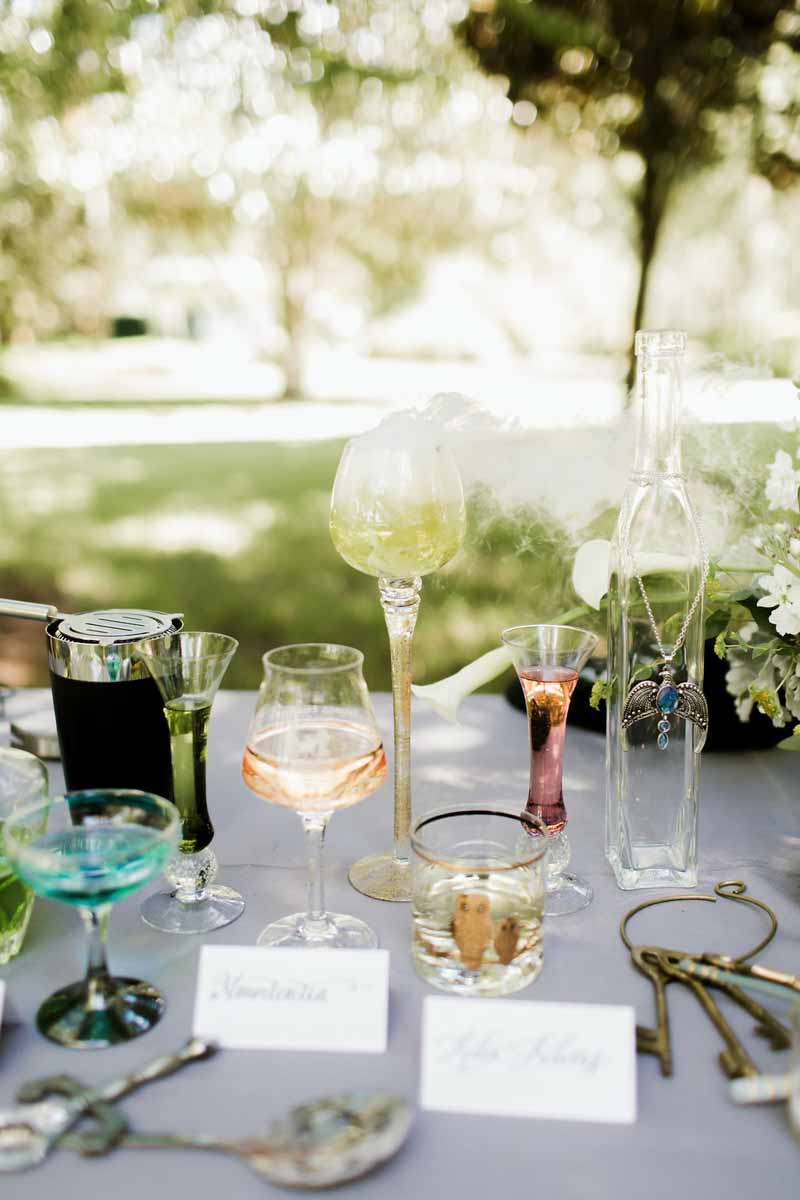 smoking alcohol beverages on table