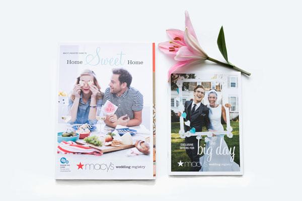 Macy's wedding registry magazine