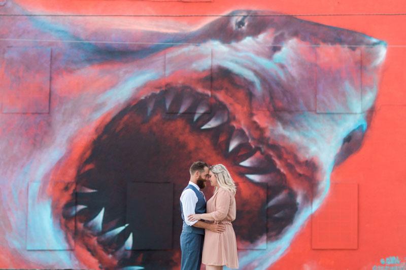 large shark mural in Melbourne FL