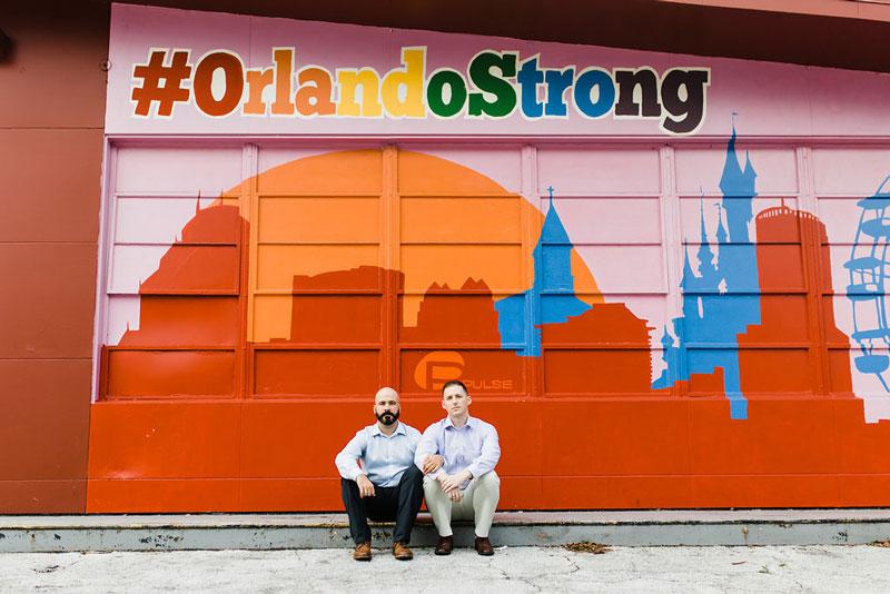 Orlando Strong wall mural at Track Shack Garage