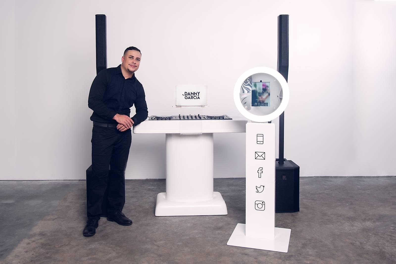 DJ Danny Garcia and his sound system