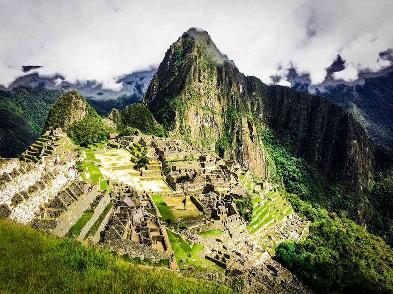 overlook of Machu Picchu in Peru