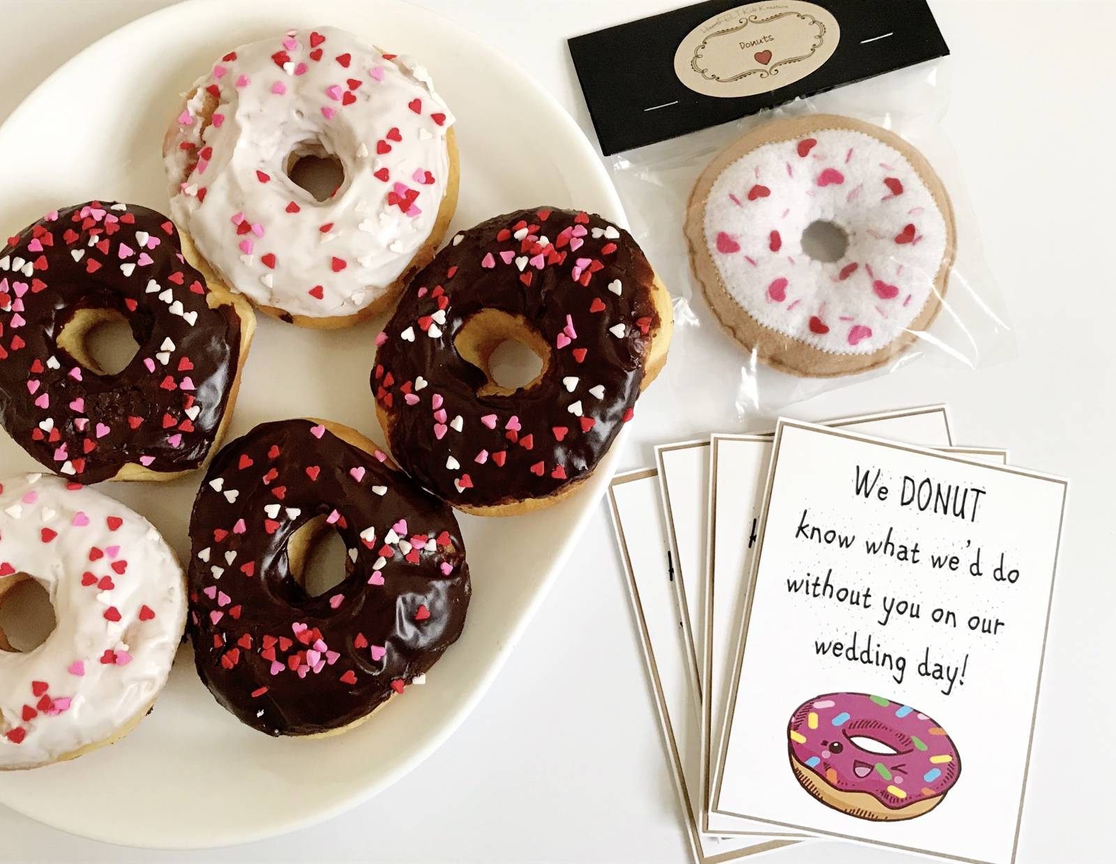 donut wedding party proposal idea