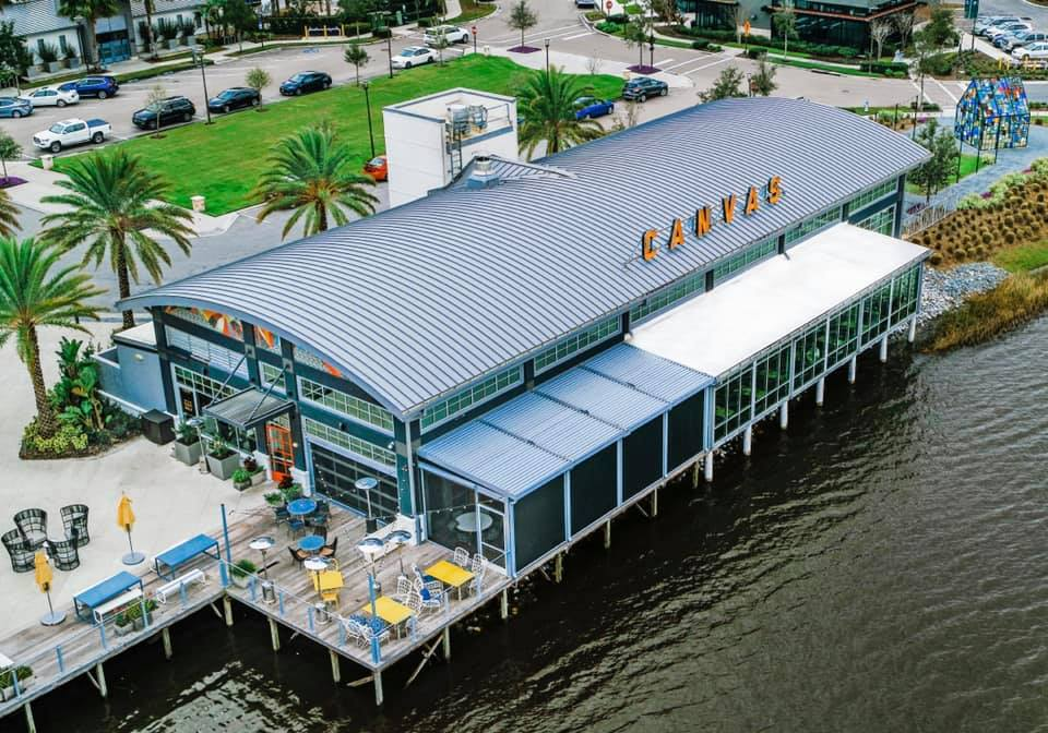 aerial view of Canvas Restaurant in Lake Nona