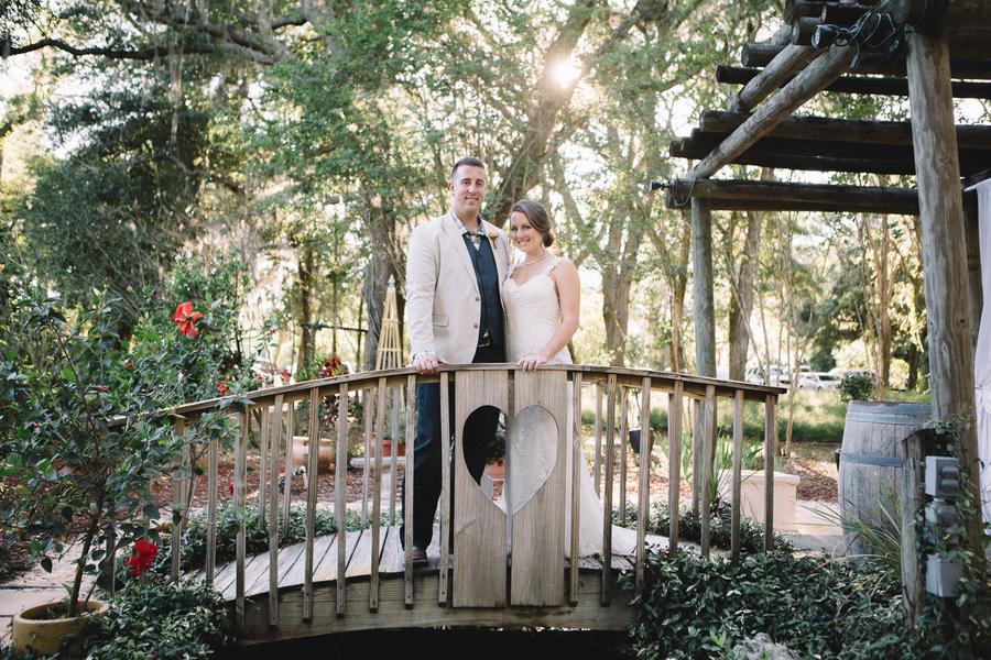 couple on bridge at Harmony Gardens
