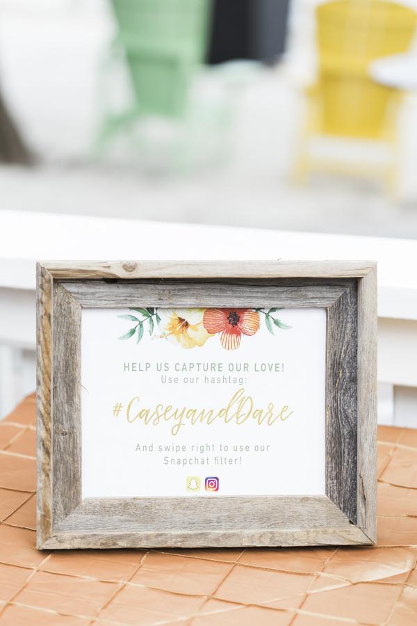 tropical wedding hashtag