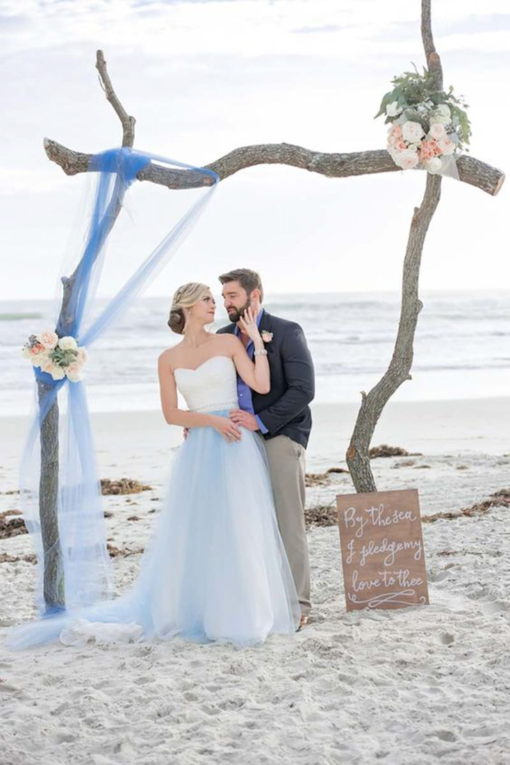 Driftwood Ceremony Arch for a beach wedding