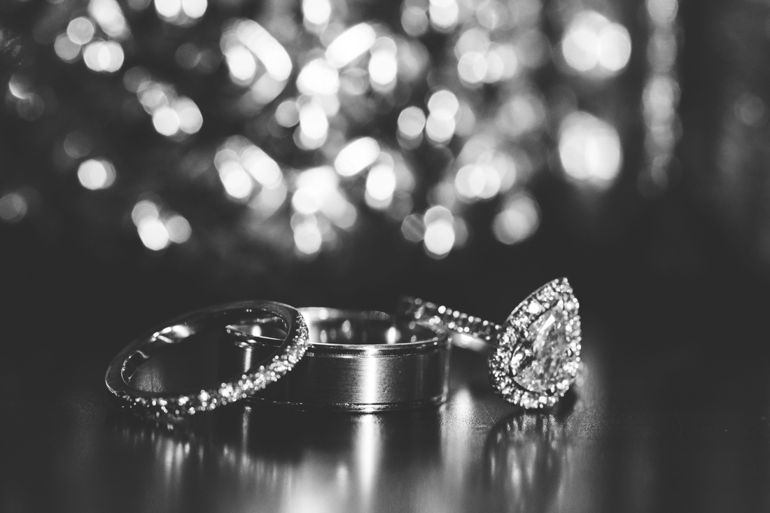 Bride and groom's wedding rings.