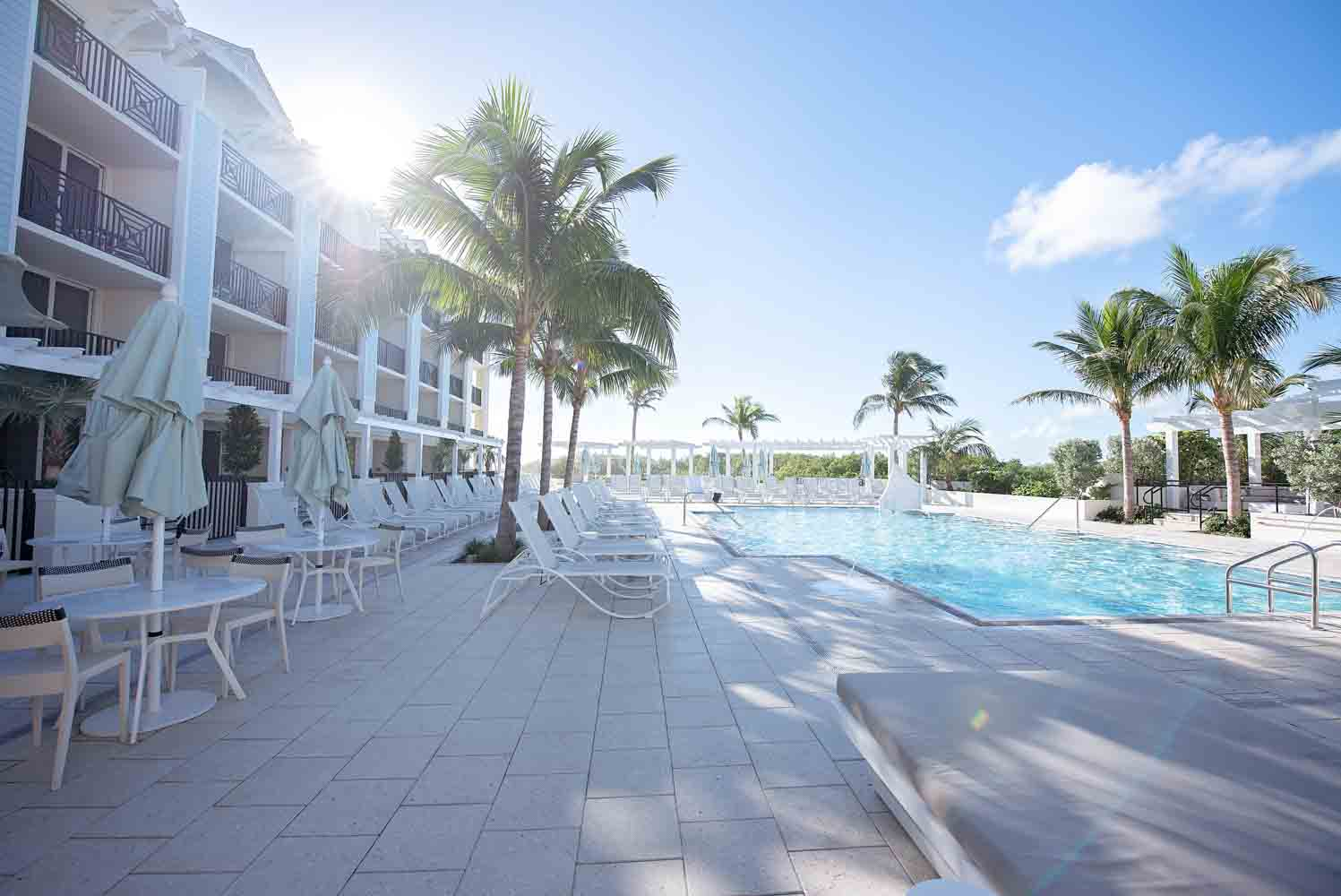 pool deck at the Hutchinson Shores Resort and Spa