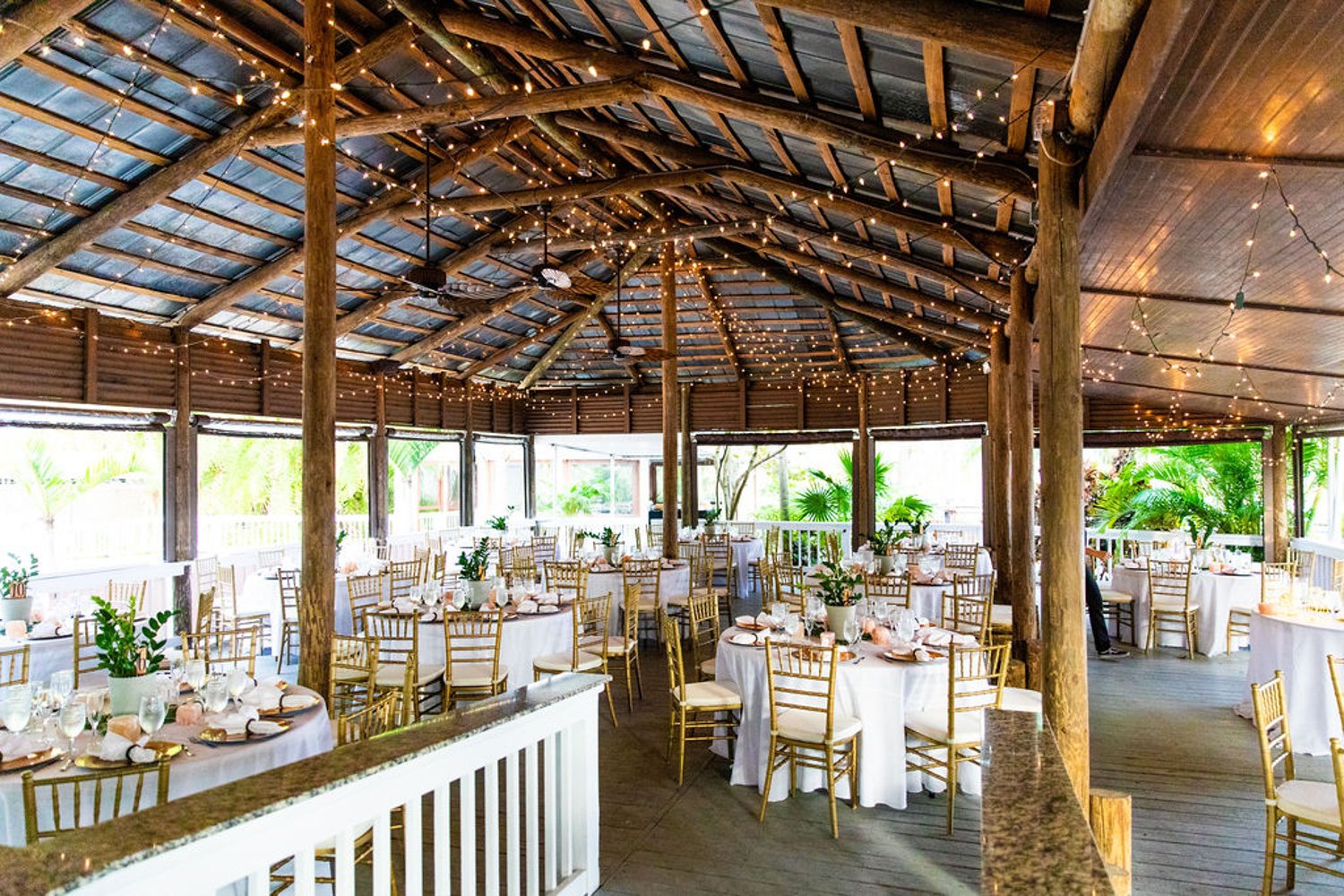 wedding reception space at Paradise Cove in Orlando FL