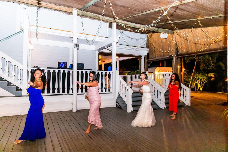 Hawaiian dance for wedding reception
