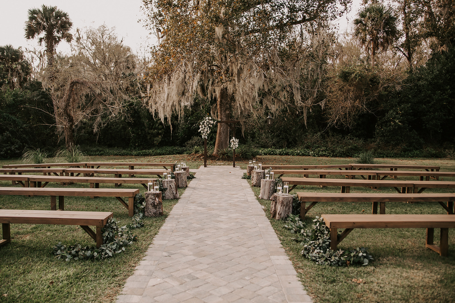 outdoor ceremony space at The Mulberry in New Smyrna Beach