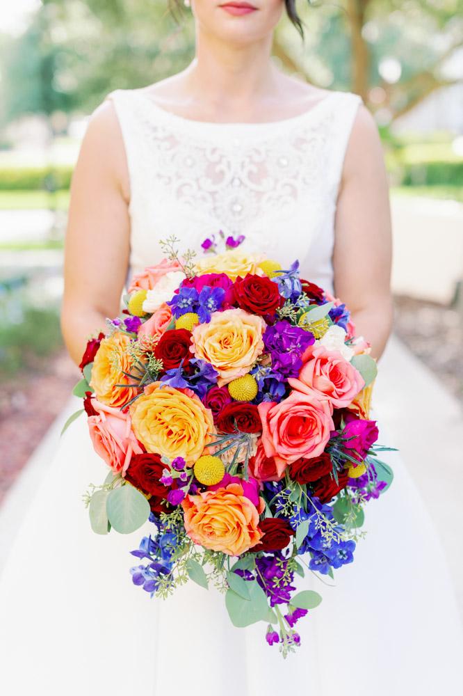 large colorful bridal bouquet